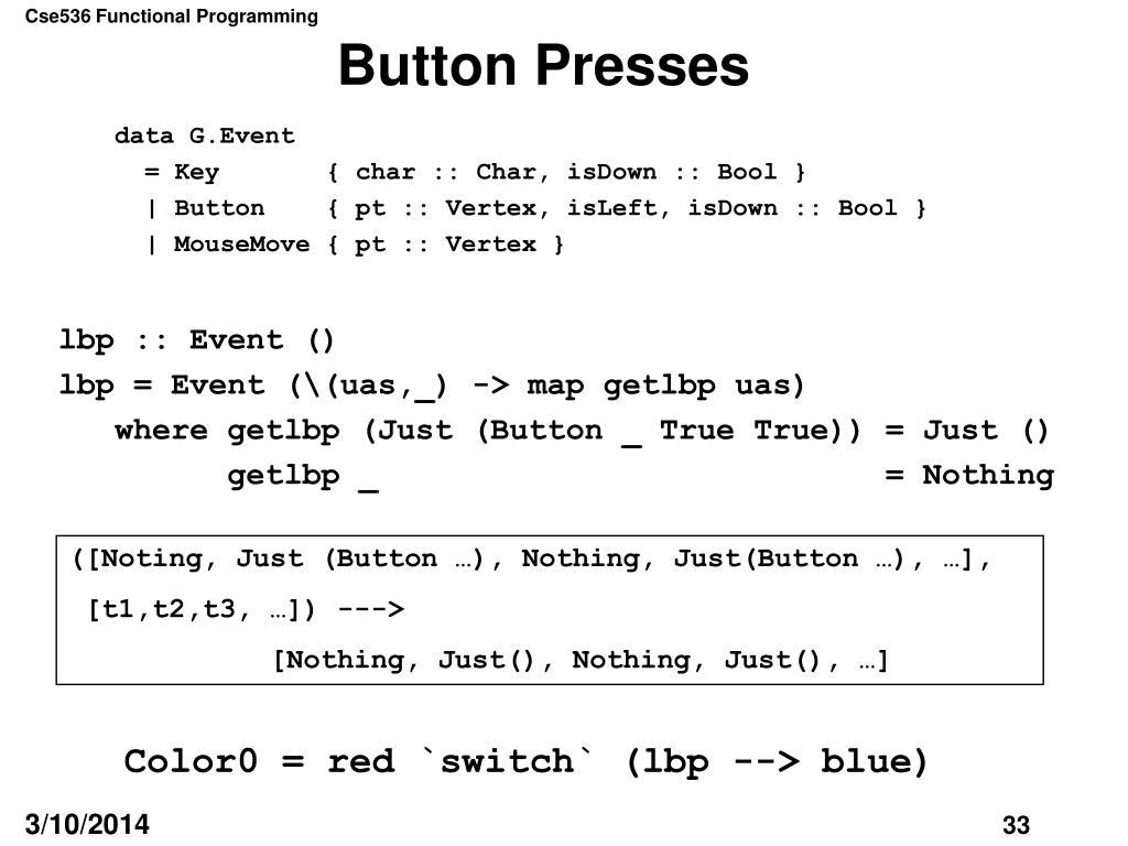 Button Presses