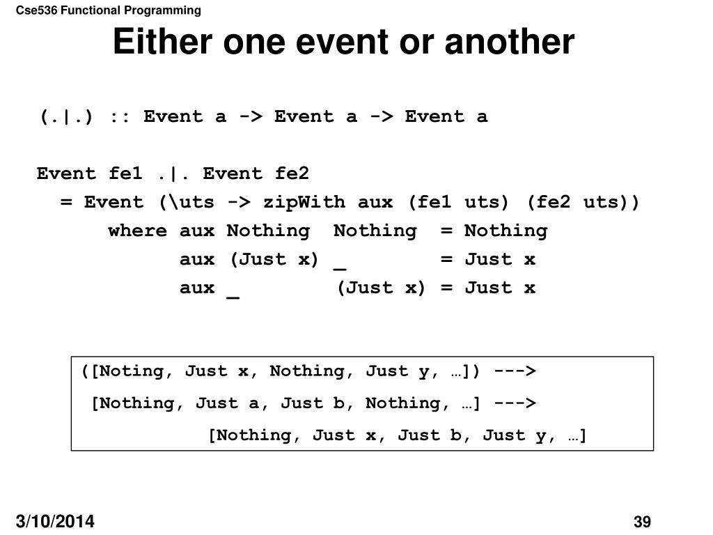Either one event or another