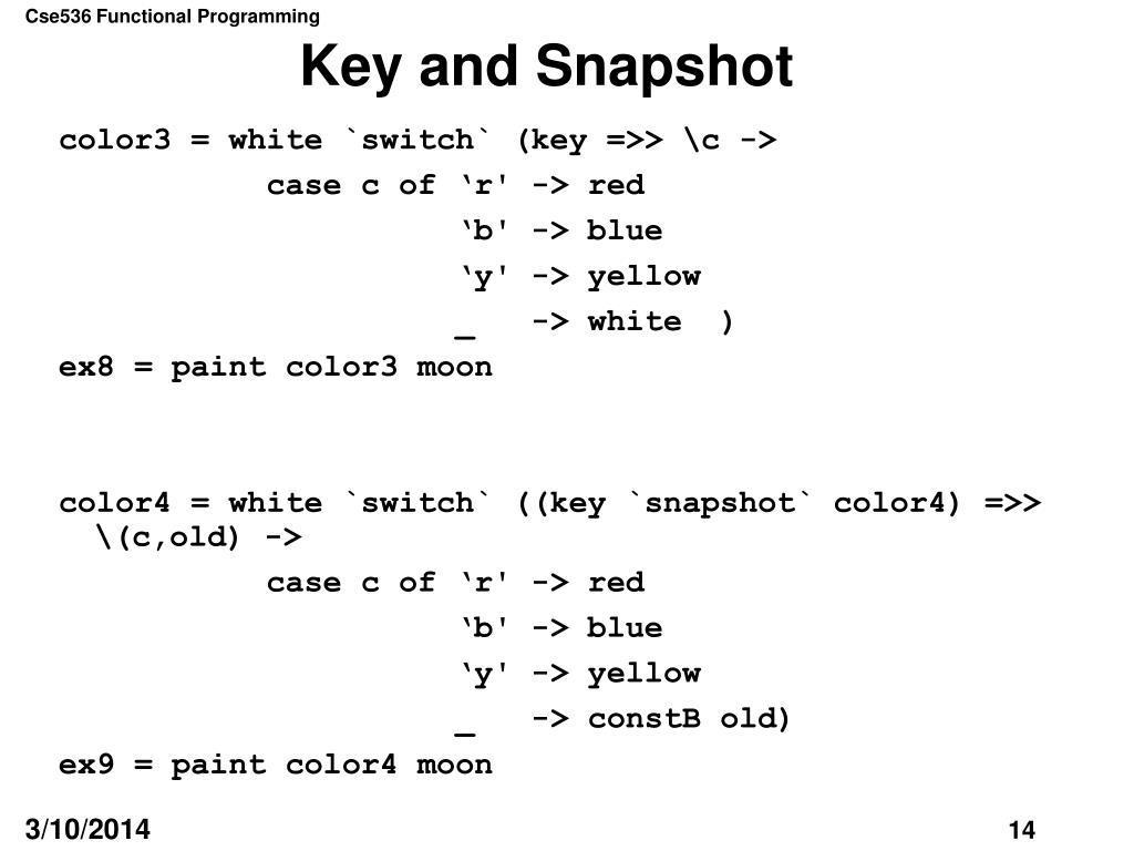 Key and Snapshot