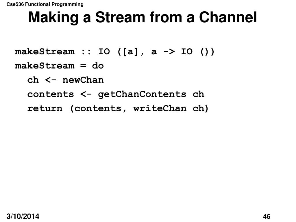 Making a Stream from a Channel