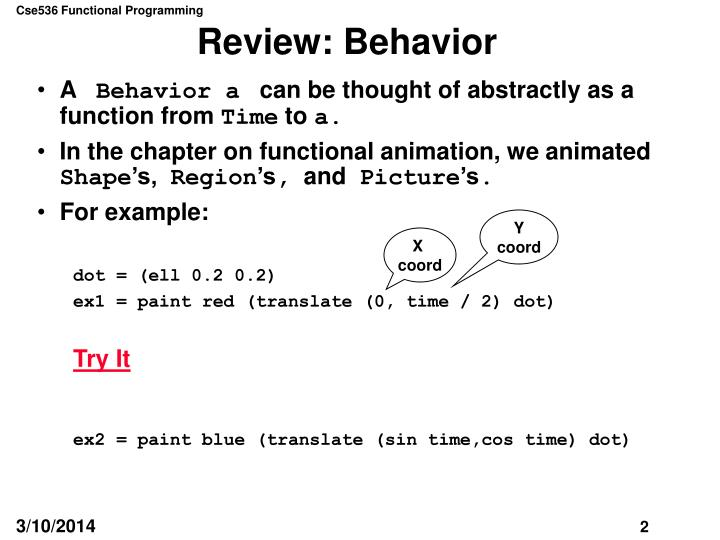 Review behavior