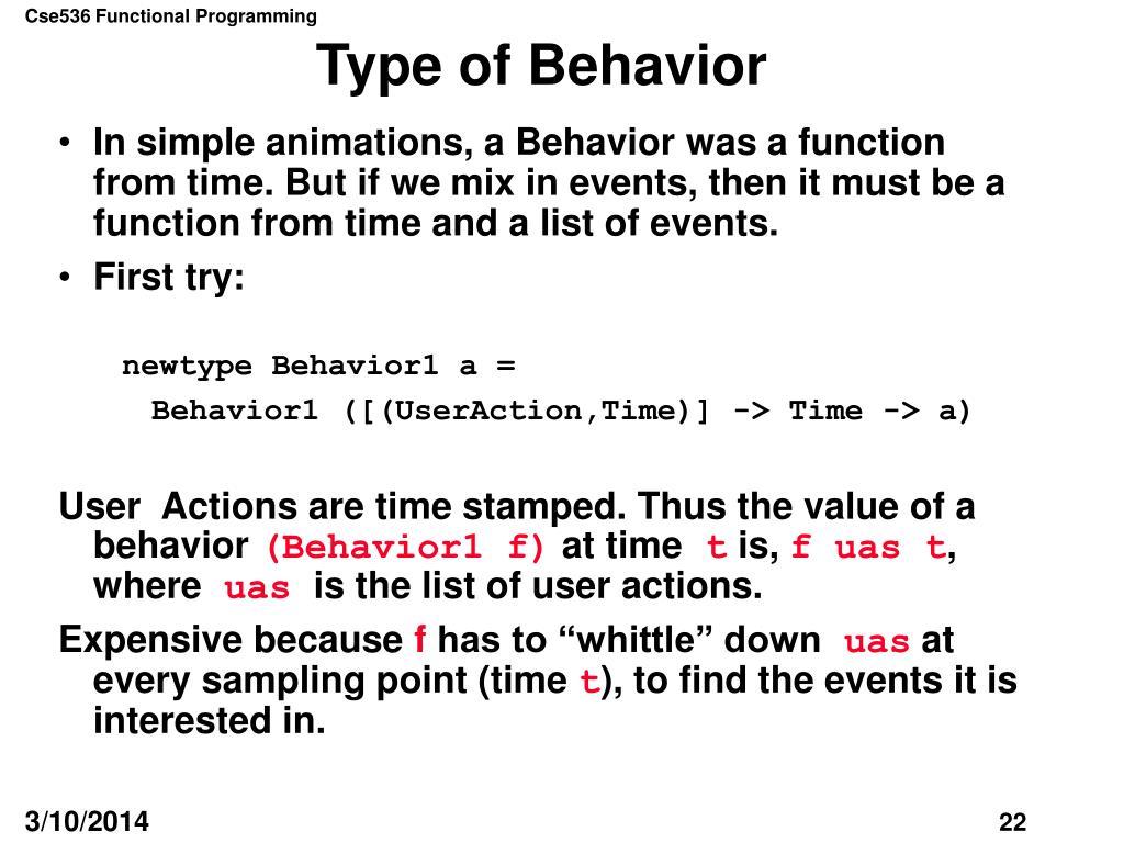 Type of Behavior