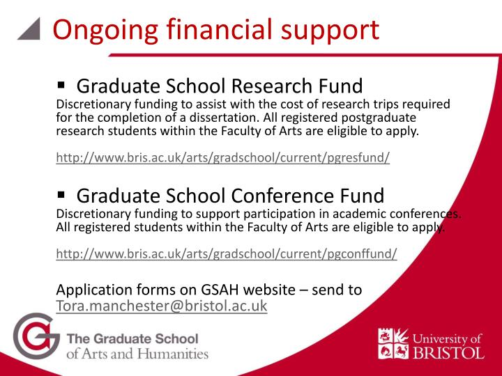 Ongoing financial support