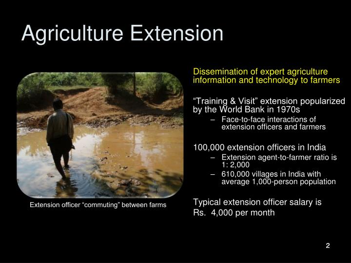 Agriculture extension