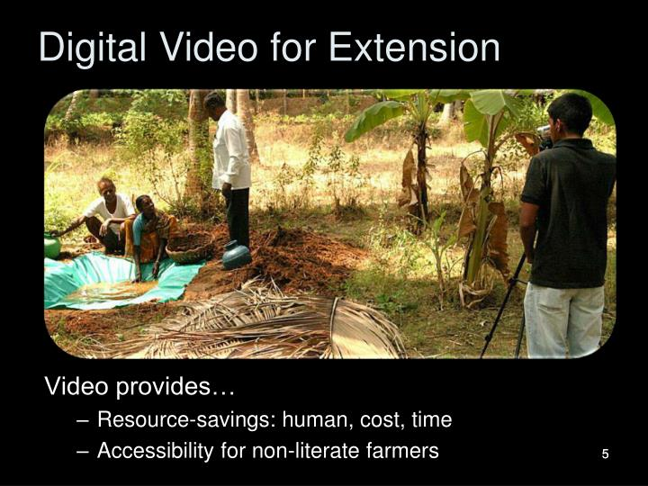 Digital Video for Extension