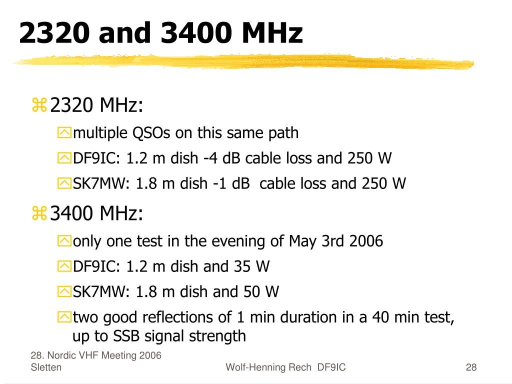 2320 and 3400 MHz