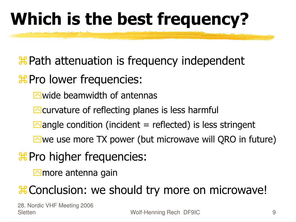 Which is the best frequency?