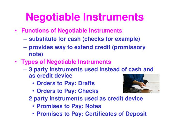Ppt Negotiable Instruments Credit And Bankruptcy Powerpoint