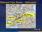 planned tour route helicopter