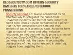 closeoutcctv com offers security cameras for banks to secure possessions
