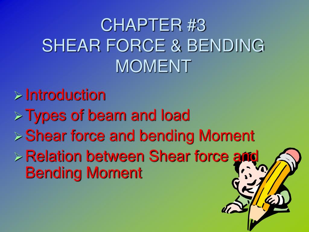 Ppt Chapter 3 Shear Force Bending Moment Powerpoint Draw The And Bendingmoment Diagrams For Beam Loading N