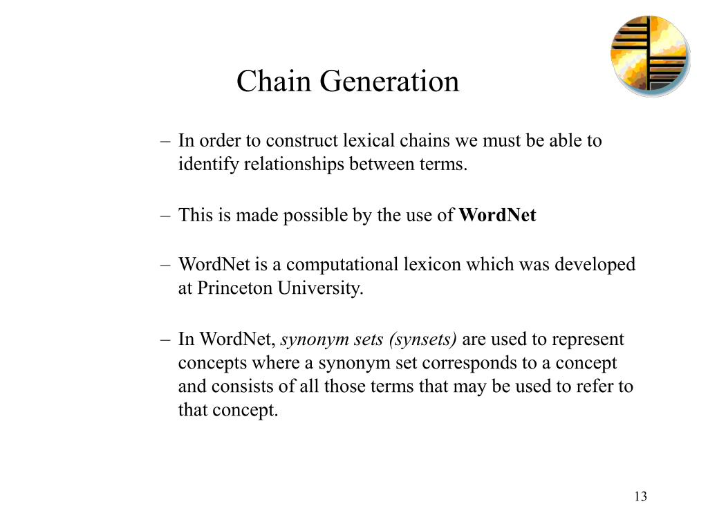 Chain Generation