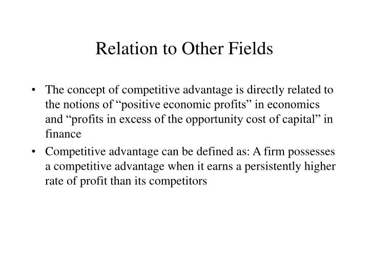 Relation to Other Fields