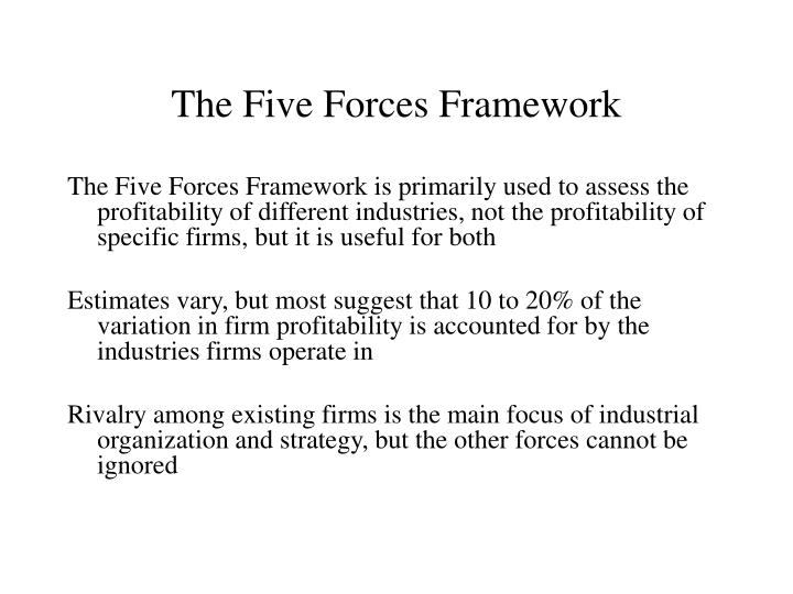 The Five Forces Framework