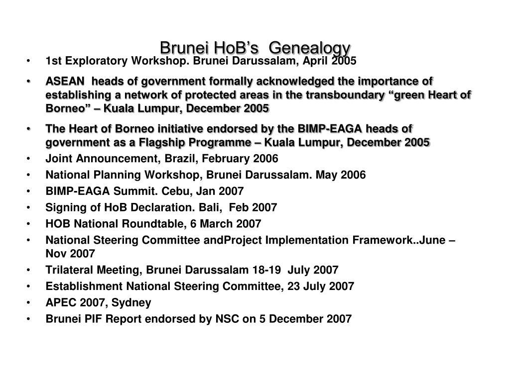 Brunei HoB's  Genealogy