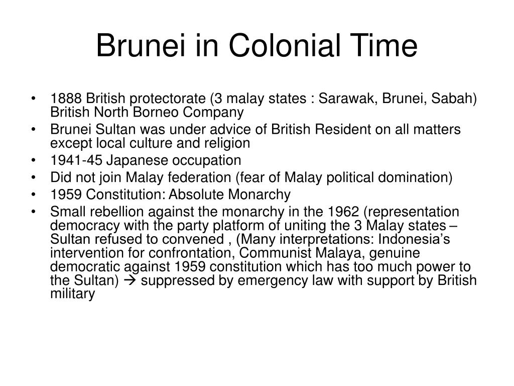 Brunei in Colonial Time