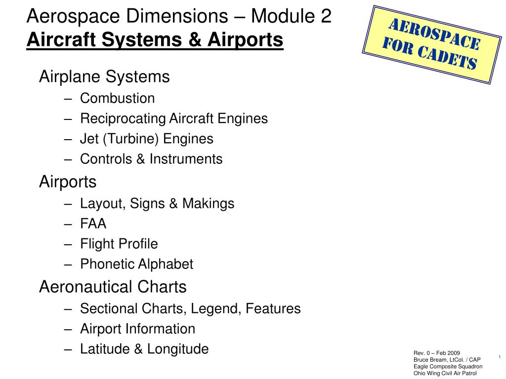 aerospace dimensions module 2 aircraft systems airports l.