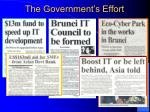 the government s effort