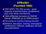 apbionet founded 1998