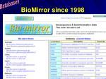 biomirror since 1998