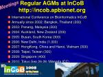 regular agms at incob http incob apbionet org