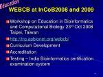 webcb at incob2008 and 2009