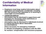 confidentiality of medical information