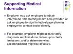 supporting medical information