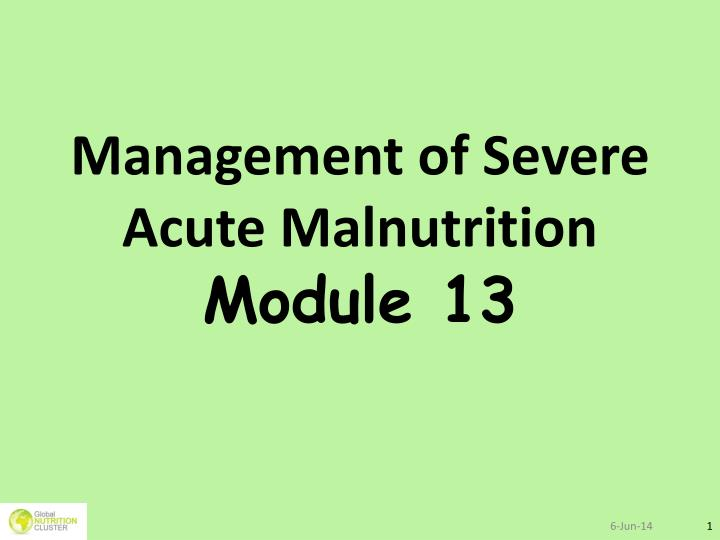 severe acute malnutrition Community-based management of severe acute malnutrition a joint statement by the world health organization, the world food programme, the.