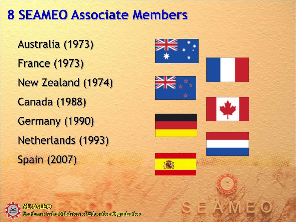 8 SEAMEO Associate Members