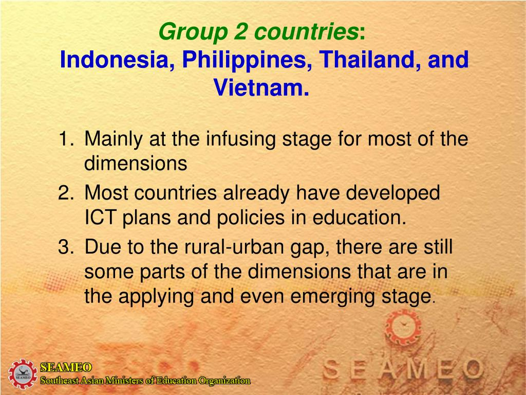 Group 2 countries