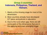 group 2 countries indonesia philippines thailand and vietnam