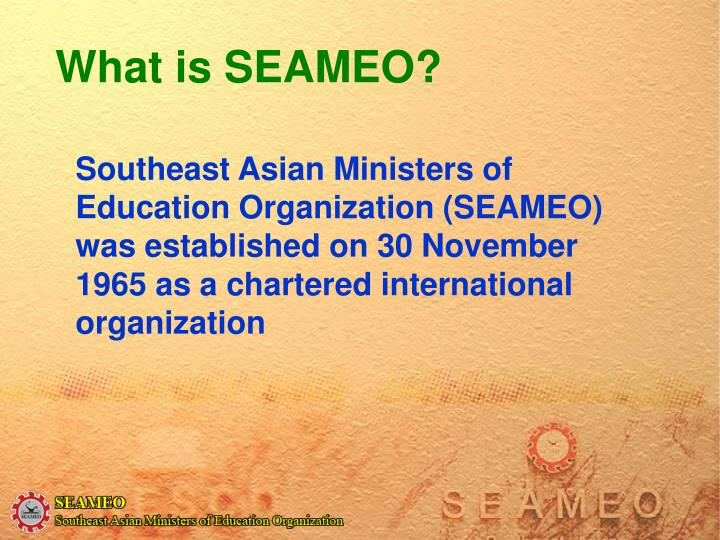 What is seameo