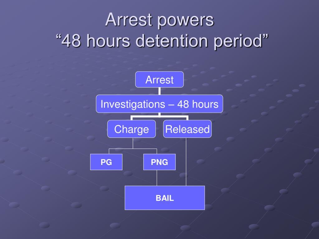 Arrest powers