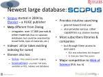 newest large database