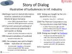 story of dialog illustrative of turbulences in inf industry