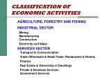 classification of economic activities