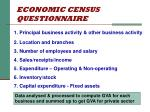 economic census questionnaire