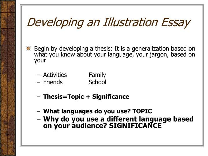 Developing an Illustration Essay