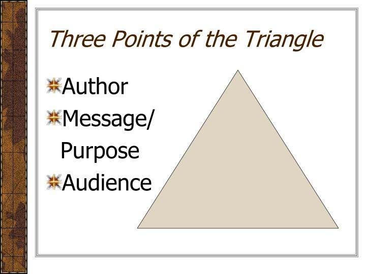 Three Points of the Triangle