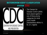 bioterrorism agent classification system cdc