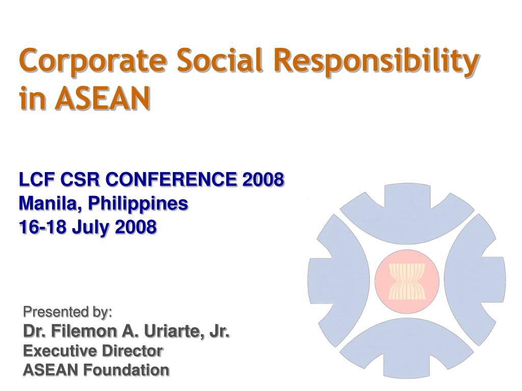 corporate social responsibility in asean l.