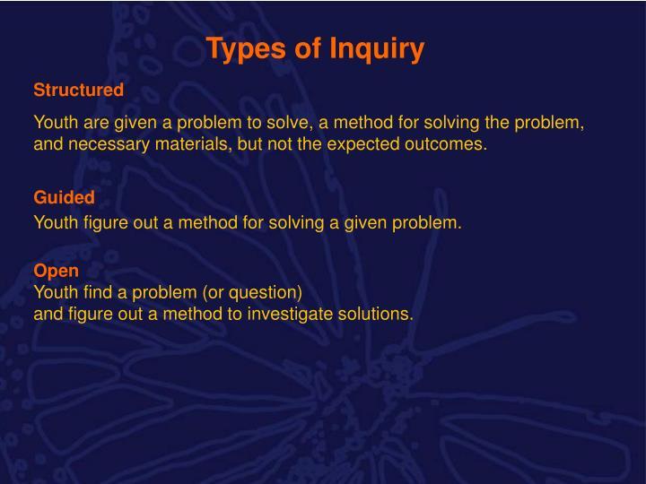 Types of Inquiry