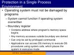 protection in a single process environment