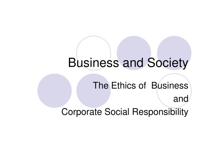 business and society n.