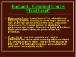 england criminal courts trial level