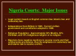 nigeria courts major issues