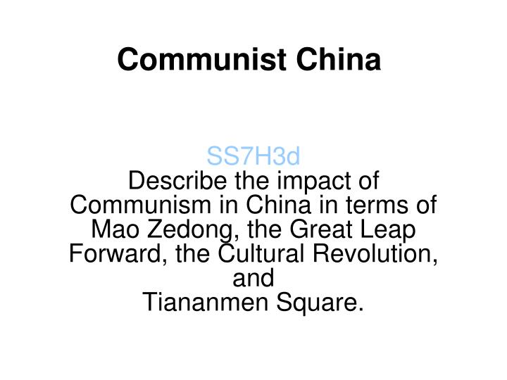 the impact of the chinese revolution essay