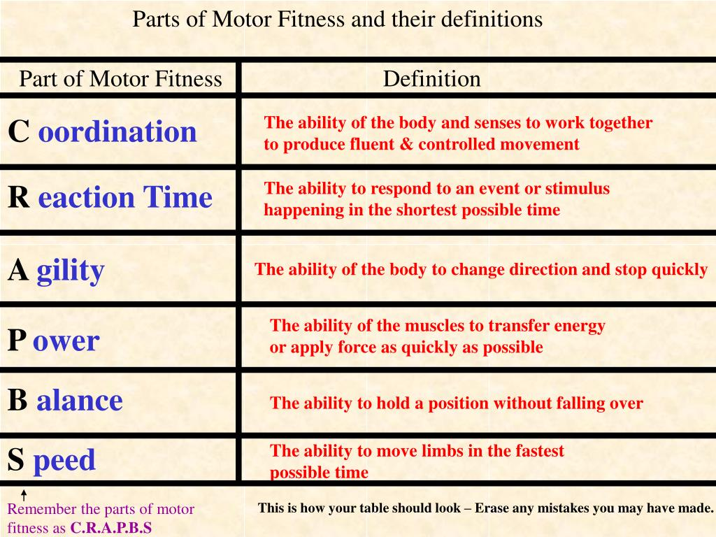 Reaction Time Definition Fitness