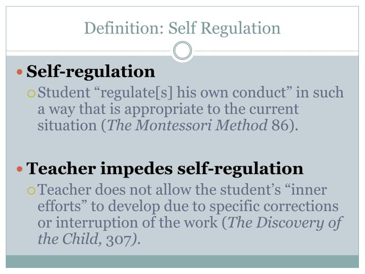 PPT - Maria Montessori: Self Regulation and Independence PowerPoint ...